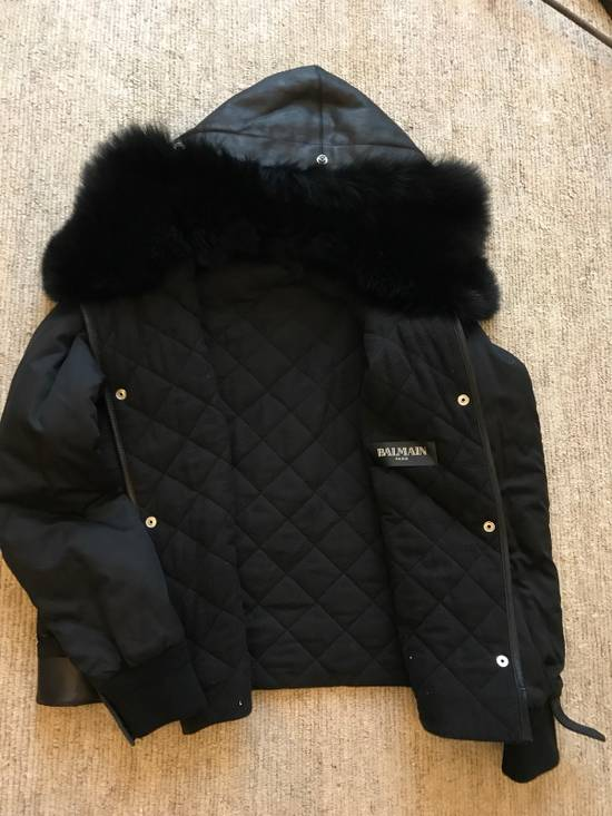 Balmain Leather Parka With Fur With Detachable Jacket And fur Size US M / EU 48-50 / 2 - 7