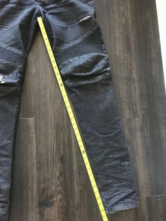 Balmain Decarnin Era Biker Denim Size US 33 - 6
