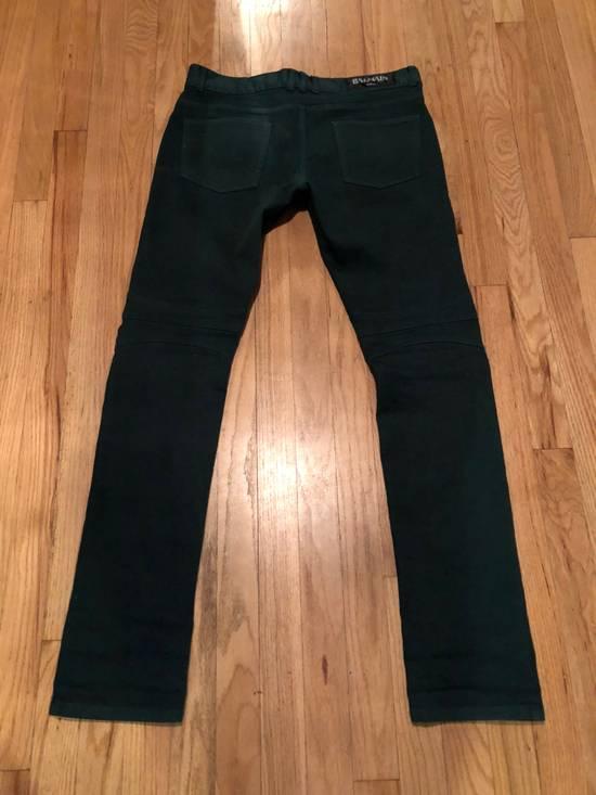 Balmain Balmain Biker Jeans Green Cotton Size US 31 - 3