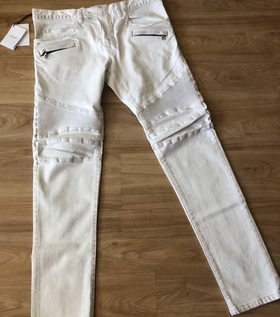 Balmain NWT, THE BEST! Biker Jeans (WAS $1650) - RUNS SMALLER Size US 36 / EU 52 - 7