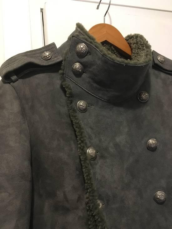 Balmain Shearling Military Coat Size US S / EU 44-46 / 1 - 7