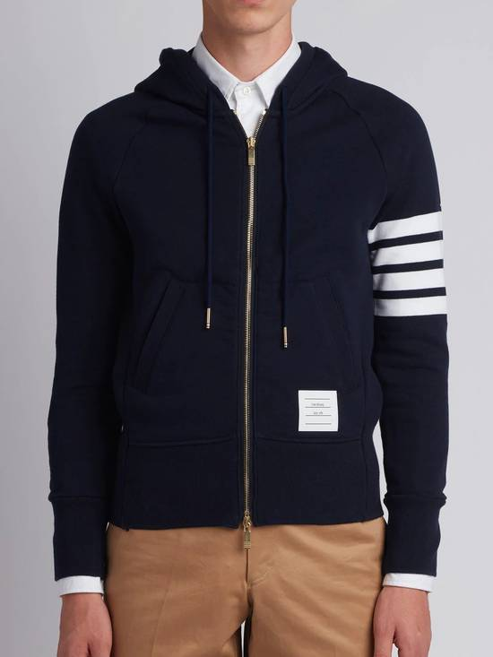 Thom Browne Navy Classic Hoodie w/Engineered 4-Bar Arm Stripe Size US S / EU 44-46 / 1 - 10
