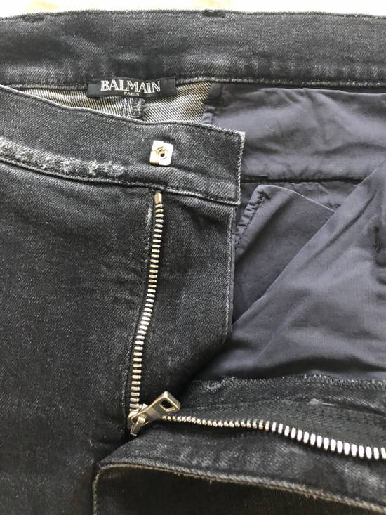 Balmain Black Balmain Biker Distressed Jeans Size US 32 / EU 48 - 2
