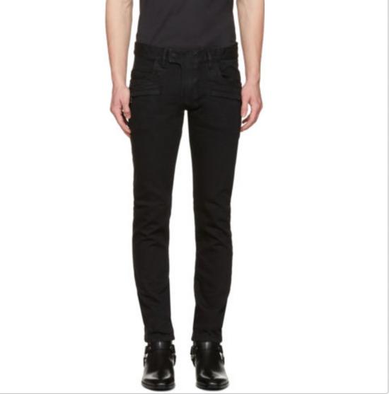 Balmain Balmain Black Biker Jeans Size US 32 / EU 48 - 5