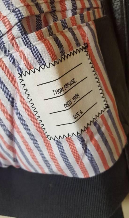Thom Browne 4 Bar Stripe Leather Bomber Jacket Black Size US S / EU 44-46 / 1 - 4