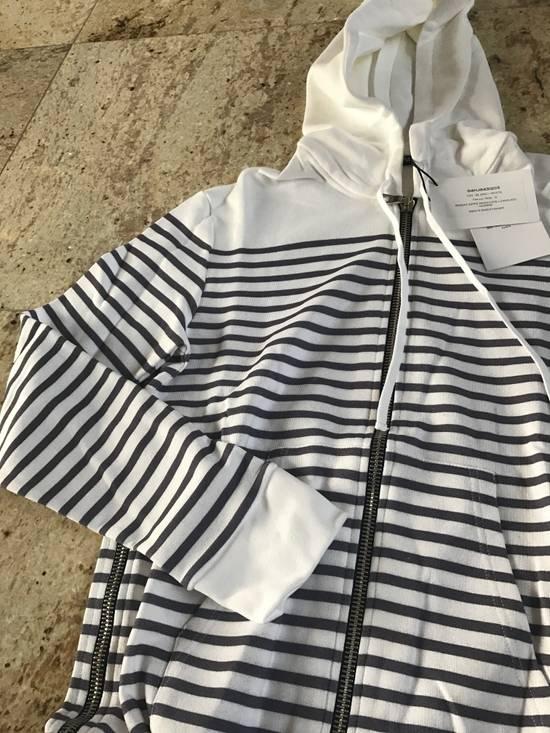 Balmain Stripe White & Grey Hoodie Size US S / EU 44-46 / 1 - 3