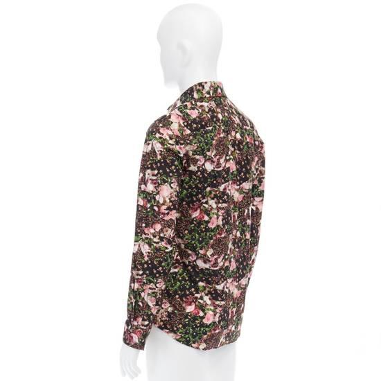 Givenchy GIVENCHY Pre14 reversed panel rose floral digital print cotton shirt US40 FR50 Size US M / EU 48-50 / 2 - 7