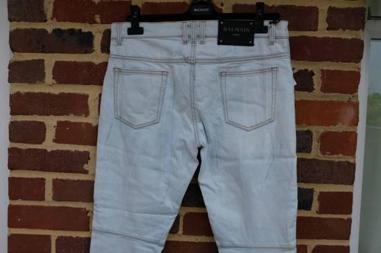 Balmain Light Blue Biker Jeans Size US 34 / EU 50 - 7