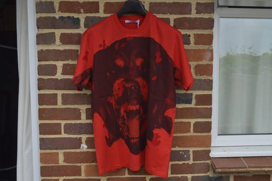 Givenchy Red Destroyed Rottweiler T-shirt Size US L / EU 52-54 / 3