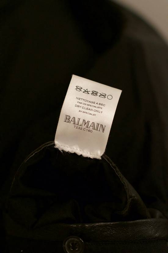 Balmain RARE! Lambskin Leather Biker Jacket Size US L / EU 52-54 / 3 - 8