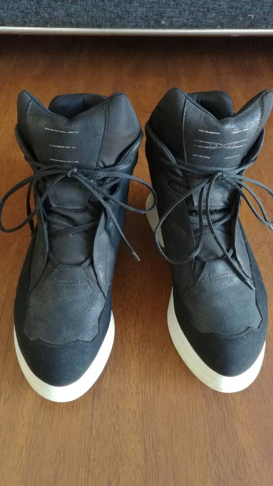 Julius 2016AW Coated Leather Chunky Sole Sneakers Black Size US 11 / EU 44 - 1