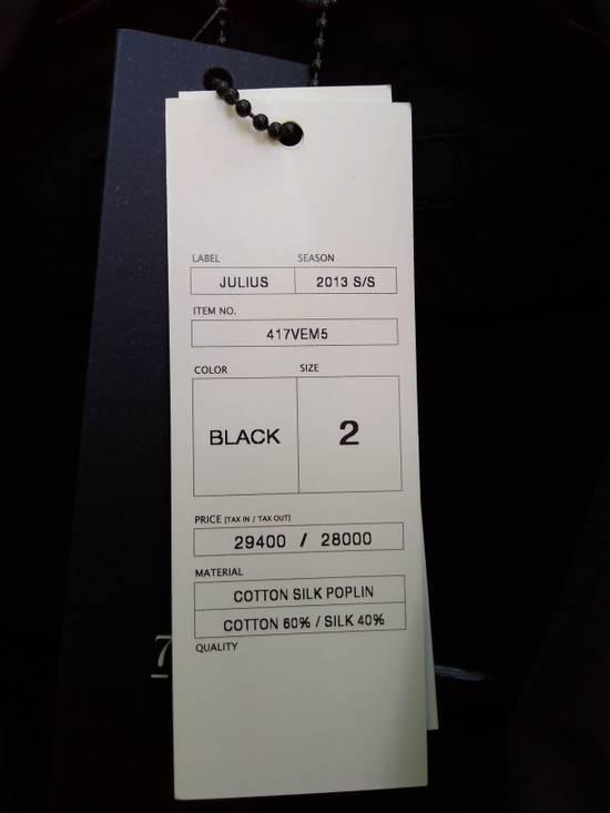 Julius Black Poplin Vest ss13 Size US M / EU 48-50 / 2 - 3