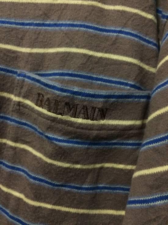 Balmain Stripe Pocket L/Sleeve Shirt BALMAIN Large Japan. Size US L / EU 52-54 / 3 - 2