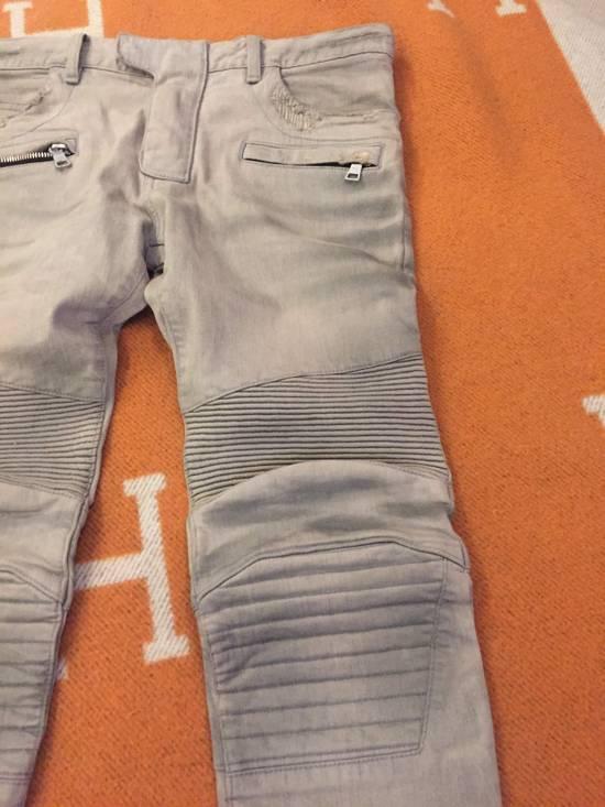 Balmain Grey Biker Denim Jeans Size US 30 / EU 46 - 4