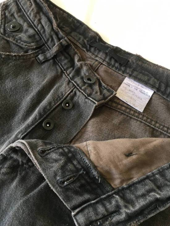 Julius Japan made cropped wrinkle and dirt effect distressed frayed hem Jeans Size US 28 / EU 44 - 11