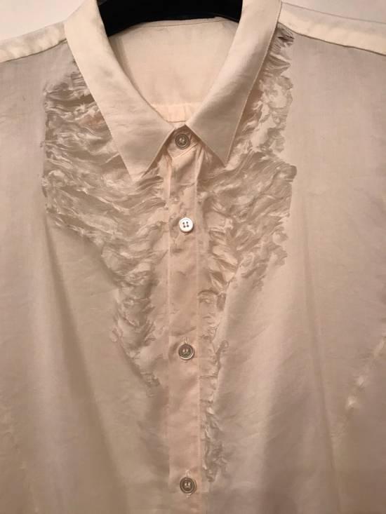 Julius Cotton-Silk Off White Distressed Shirt Size US M / EU 48-50 / 2 - 1