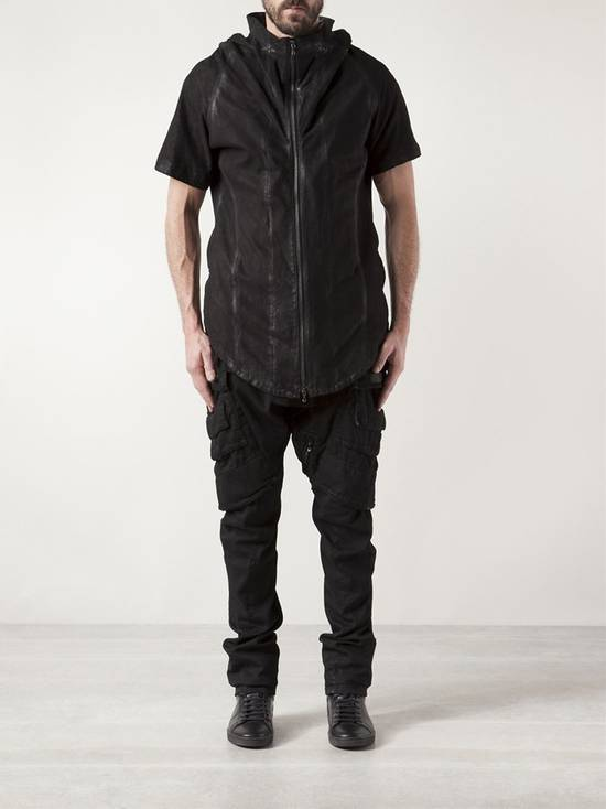 Julius Lamb Nubuck Leather Short Sleeve Jacket Size US L / EU 52-54 / 3 - 9