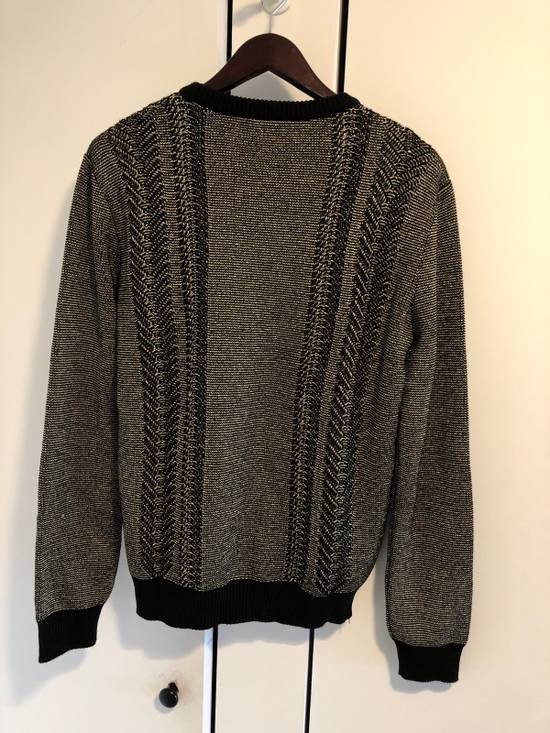 Balmain Gold And Black Knit Sweater Size US L / EU 52-54 / 3 - 1