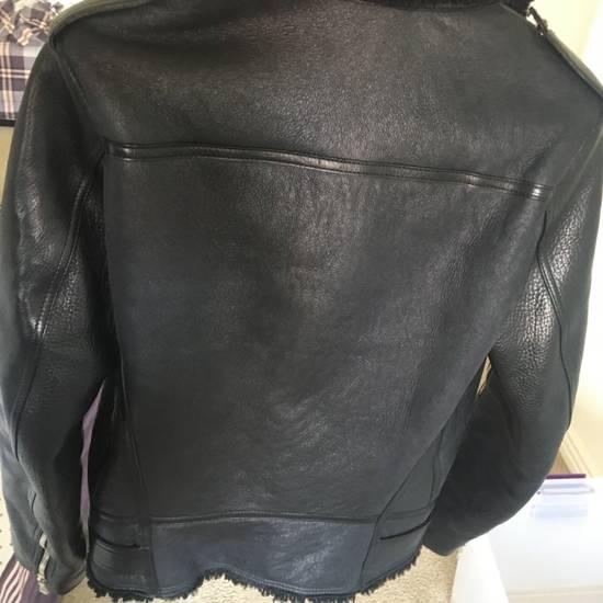 Balmain Black Leather & Shearling Biker Jacket Size US S / EU 44-46 / 1 - 3