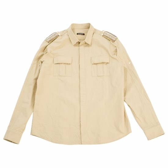 Balmain Balmain Button Down Shirt Epaulette Detail Safari Size 16.5 Slim Fit Embroidered Size US L / EU 52-54 / 3 - 1