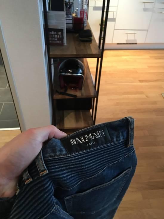 Balmain Balmain Light/Dark Blue Biker Jeans Size US 33 - 4