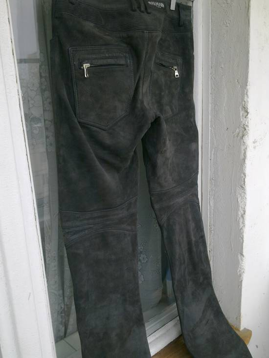 Balmain Balmain Dark Grey Leather pants Size US 31 - 3