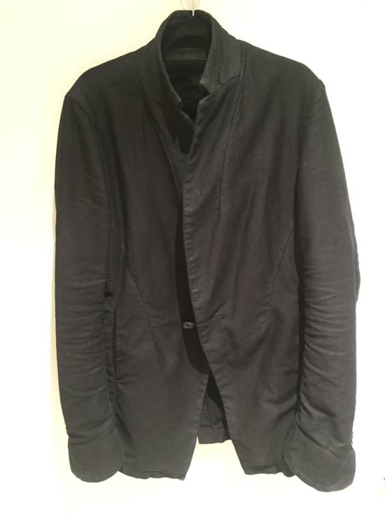Julius FW13-14 'CRACK' black waxed edge moleskin blazer Size 46R - 1