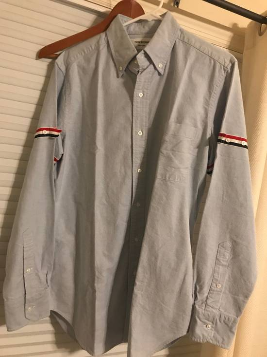 Thom Browne *NA only*Thom Browne Brand New Oxford Armbanded Shirt with original Packing Size US M / EU 48-50 / 2