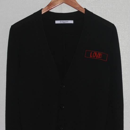 Givenchy Men's Givenchy Love Embroidered Black Cardigan Size S Size US S / EU 44-46 / 1 - 3