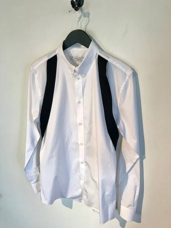 Givenchy Givenchy White Harness Straps Button Down Shirt Size US M / EU 48-50 / 2