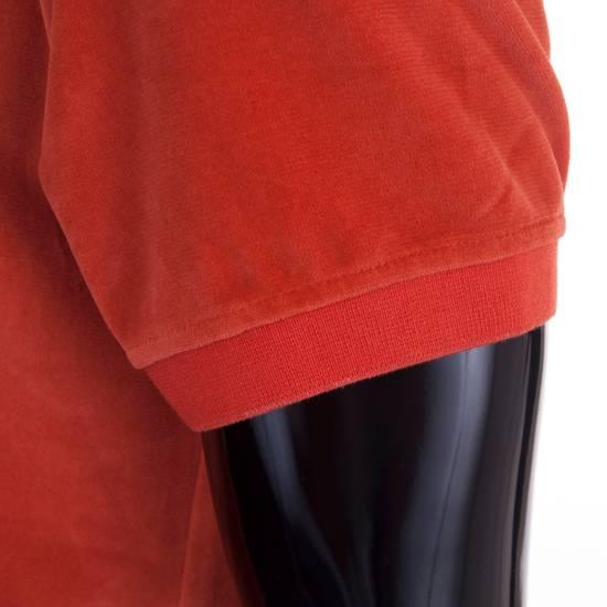 Givenchy Orange Men's Velour Crewneck T-Shirt With 4G Chest Logo Size US M / EU 48-50 / 2 - 6
