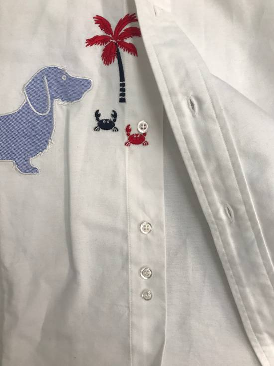 Thom Browne 🔥$700 OFF🔥[CLEARANCE] THOM BROWNE Dog Hector Palm Embroidered Oxford Size US XS / EU 42 / 0 - 8