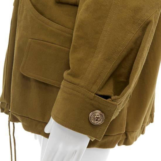Balmain BALMAIN Pre14 army green stretch military zip up oversized jacket FR40 US8 UK12 Size US M / EU 48-50 / 2 - 11