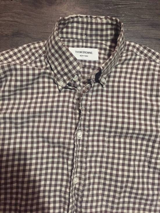 Thom Browne CHECKERED BUTTON UP SHIRT Size US S / EU 44-46 / 1 - 1