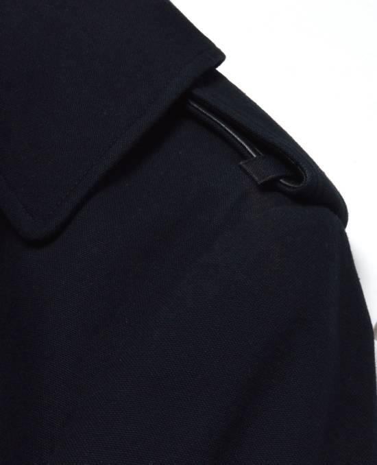 Balmain Cotton Gabardine Nappa Pea Coat Size US L / EU 52-54 / 3 - 11