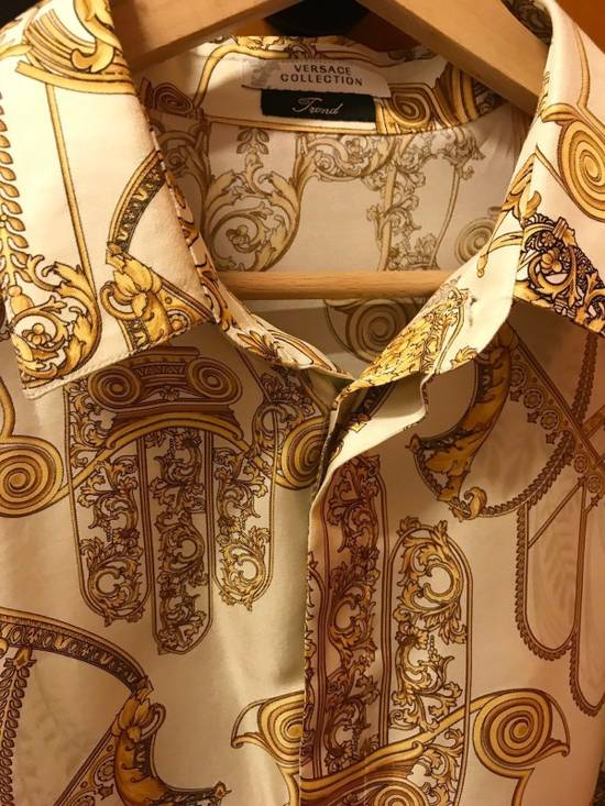 Givenchy Donatella Versace Chaos Greek Figures Silk Barocco Shirt 43 $1395 Size US L / EU 52-54 / 3 - 3