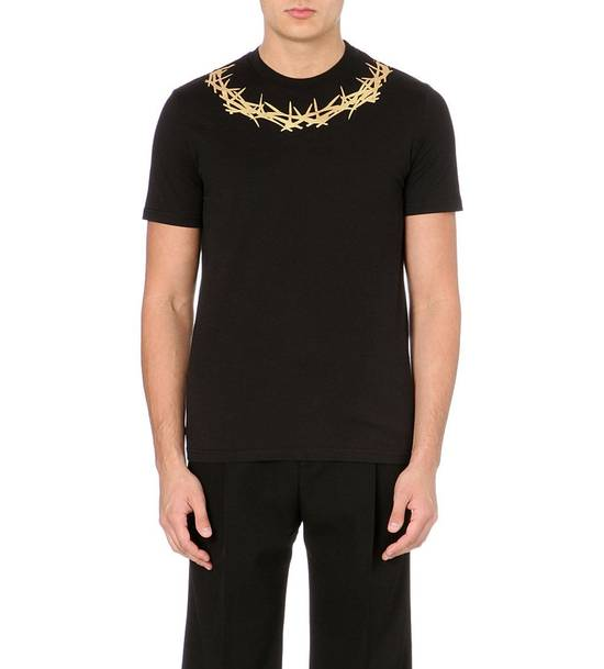 Givenchy Givenchy Black Crown of Thorns Print Rottweiler Shark Cuban Fit T-shirt size L (M) Size US M / EU 48-50 / 2 - 1
