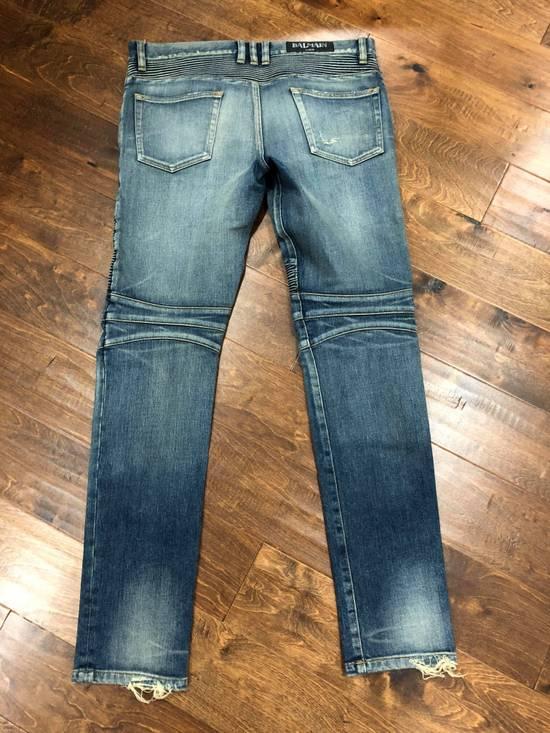 Balmain Balmain Destroyed Slim Fit Biker Jeans Size US 32 / EU 48 - 6