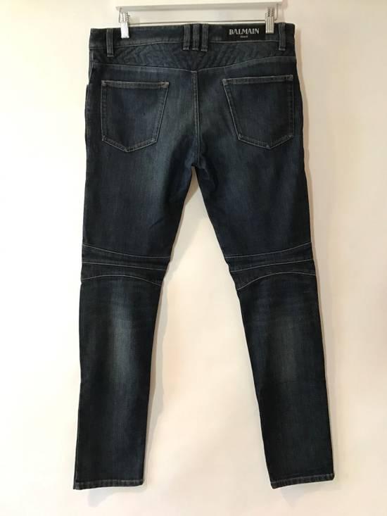 Balmain Balmain Geometric Quilted Paneled Biker Denim Jeans Size 32 Size US 32 / EU 48 - 1