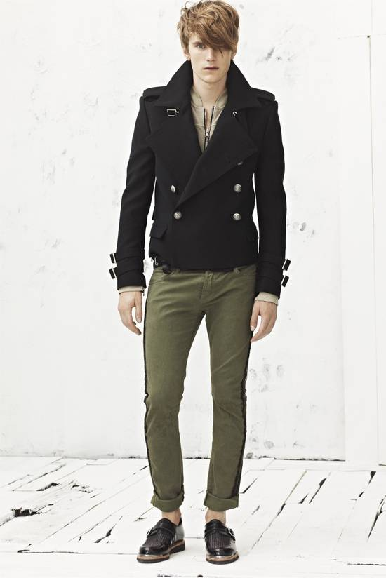 Balmain Khaki Jeans With Trim Piping Size US 32 / EU 48 - 1