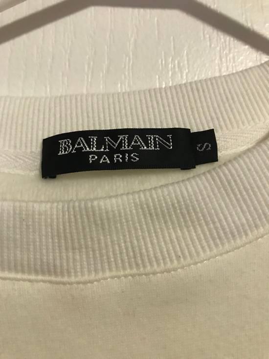Balmain Balmain Logo White Crewneck Size US S / EU 44-46 / 1 - 4