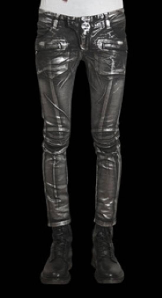 Balmain Silver stretch cropped pants Size US 33