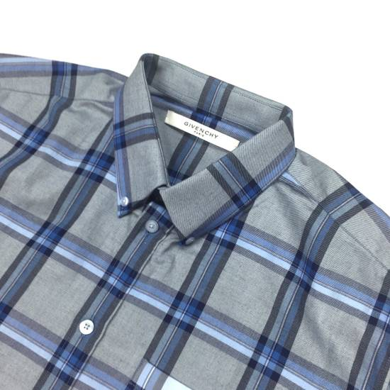 Givenchy Blue Cuban Fit Flannel Shirt NWT Size US M / EU 48-50 / 2 - 1