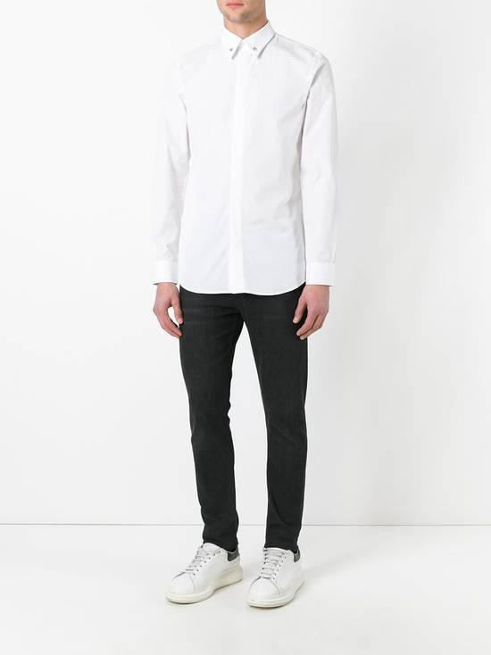 Givenchy White Metal Stars Collar Shirt Size US L / EU 52-54 / 3 - 2