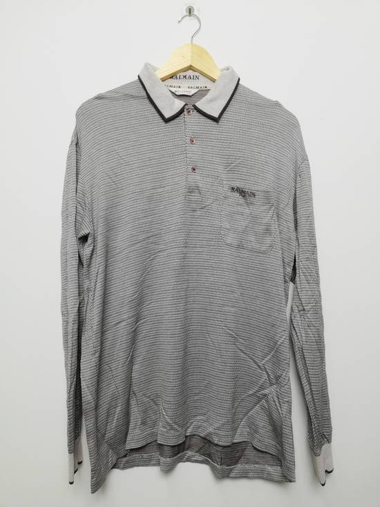 Balmain Pierre Balmain Paris Long Sleeves Golf Shirt Size US L / EU 52-54 / 3
