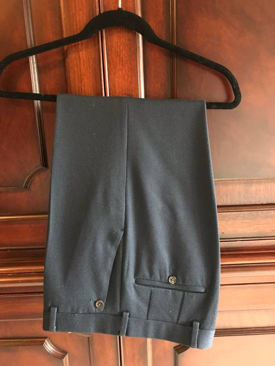 Thom Browne Black Fleece Navy Wool Twill Trousers BB1 Size US 30 / EU 46