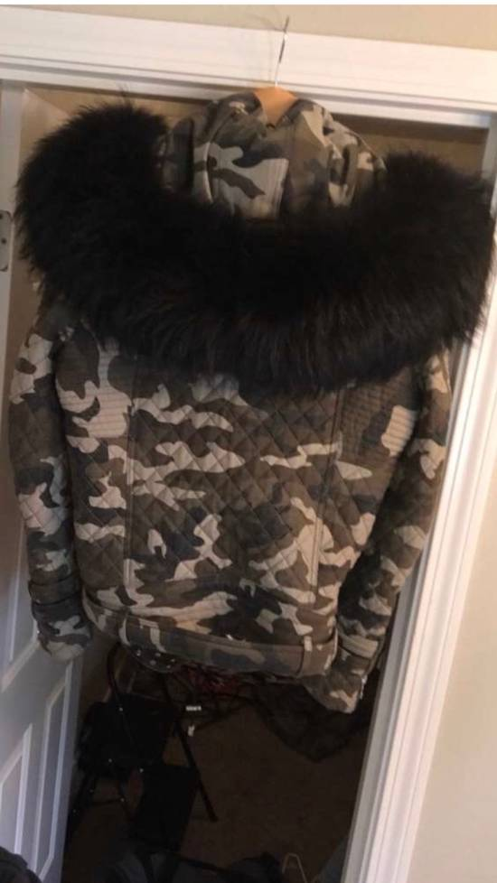 Balmain Raccoon Fur Hooded Jacket Size US M / EU 48-50 / 2