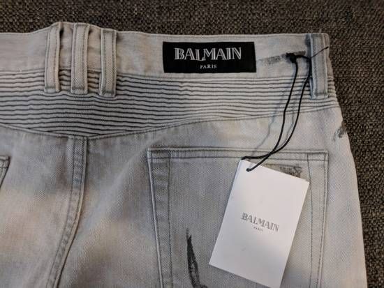 Balmain BNWT Balmain Gray Biker Jeans size 35 Size US 35 - 1
