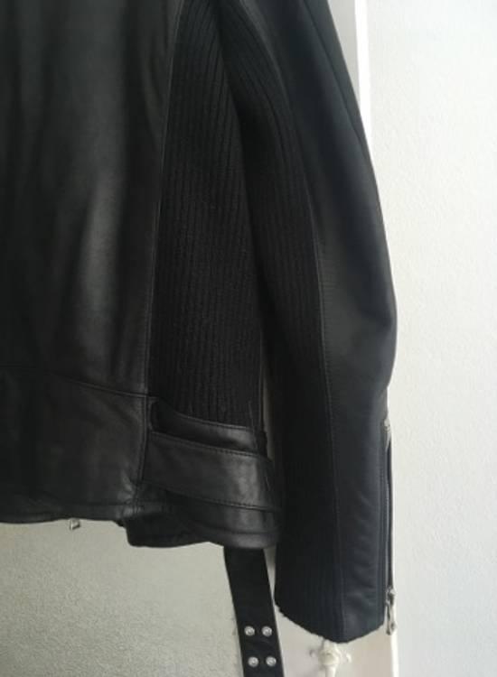Balmain AW15 black leather biker jacket Size US L / EU 52-54 / 3 - 6