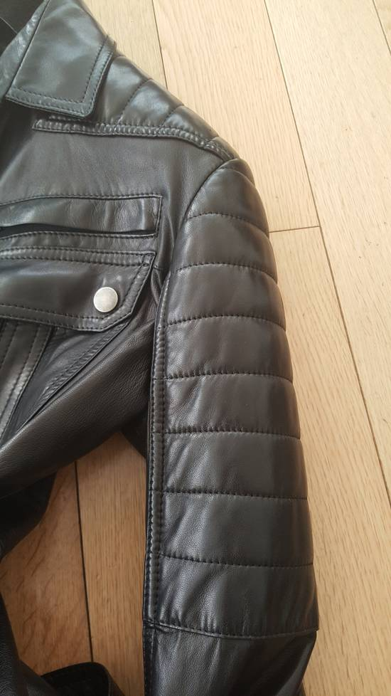 Balmain Balmain Black Leather Quilted Jacket Safari Biker Style SS13 *Very Rare* 48 Size US M / EU 48-50 / 2 - 6